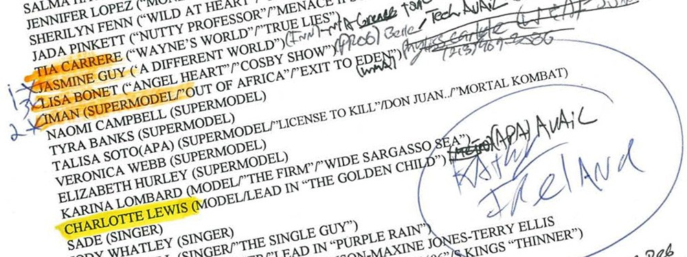 Season Three Casting documents